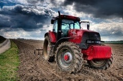 Picture of tractor used in sustainable agriculture
