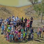 many volunteers at Darling Downs wetland