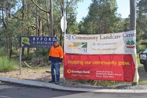 Community members helped direct traffic National Tree Day Celebration
