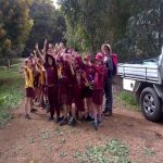 Enthusiastic Jarrahdale school children at Turtle Creek