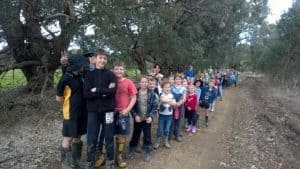 Kids from North Dandalup Primary School at their annual tree planting activities.