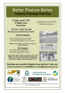 Property Planning Field Day Flyer