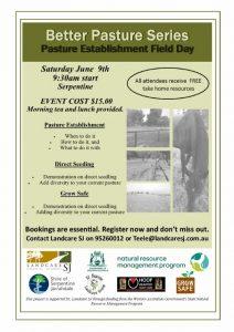 Better Pasture Series Pasture Establishment Flyer