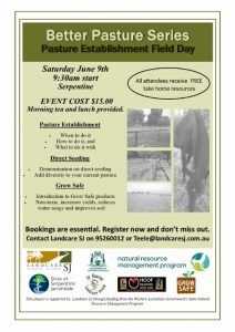 BPS Pasture Establishment Event Flyer
