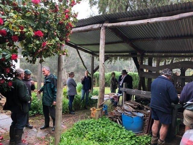 planters having talking at Gooralong Brook, Jarrahdale