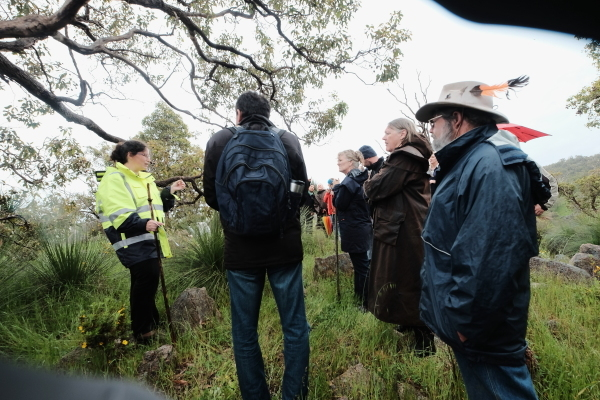 woman talkng about western Australian native plant species