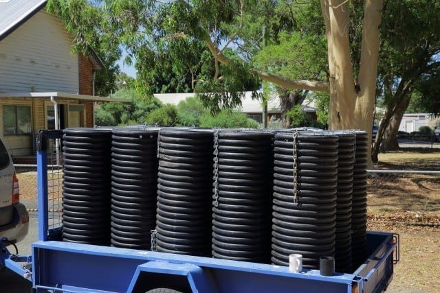 artificial nest boxes for Black Cockatoos at Landcare SJ , Mundijong Western Australi