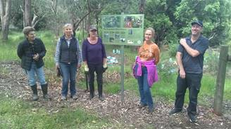 4 women and one man  standing in bushland in Serpentine