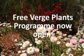 link to Serpentine Jarrahdale free verge plants programme
