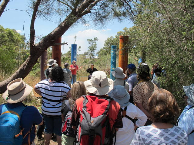 people listening to speakers at Black Cockatoo Monitoring and Cultural Tour – Binjareb Park, Pinjarra
