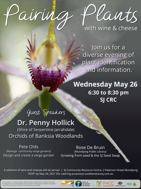 flyer for pairing plants event
